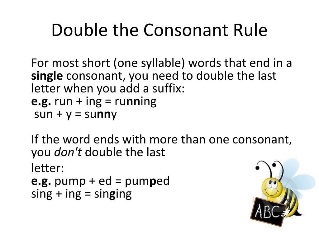 Double Consonant Rule