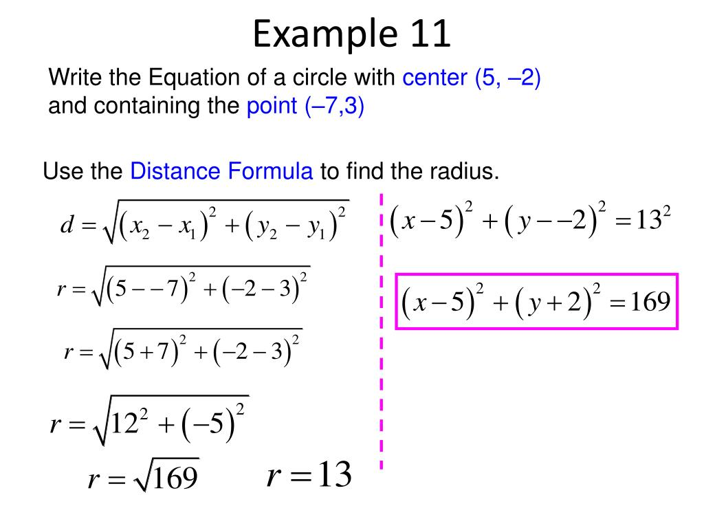 Equation Of Circle From 2 Points And Radius