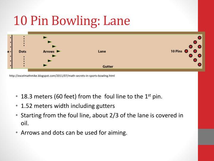 Bowling Lane Dimensions Feet