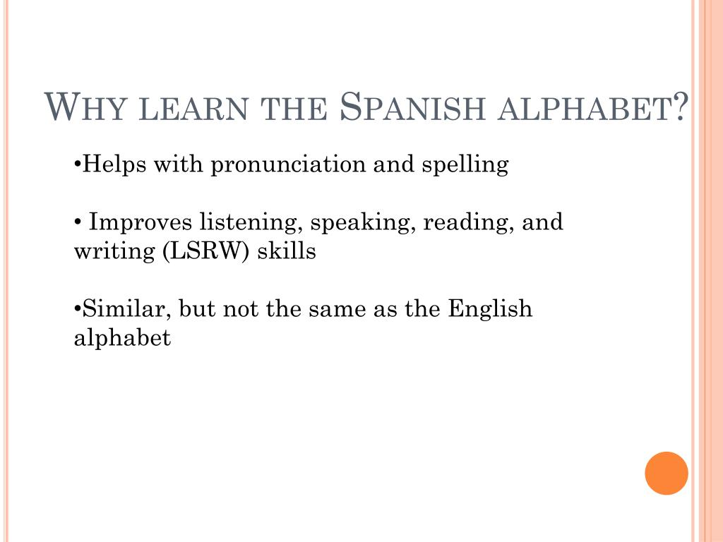 Spanish Alphabet Pronunciation In English