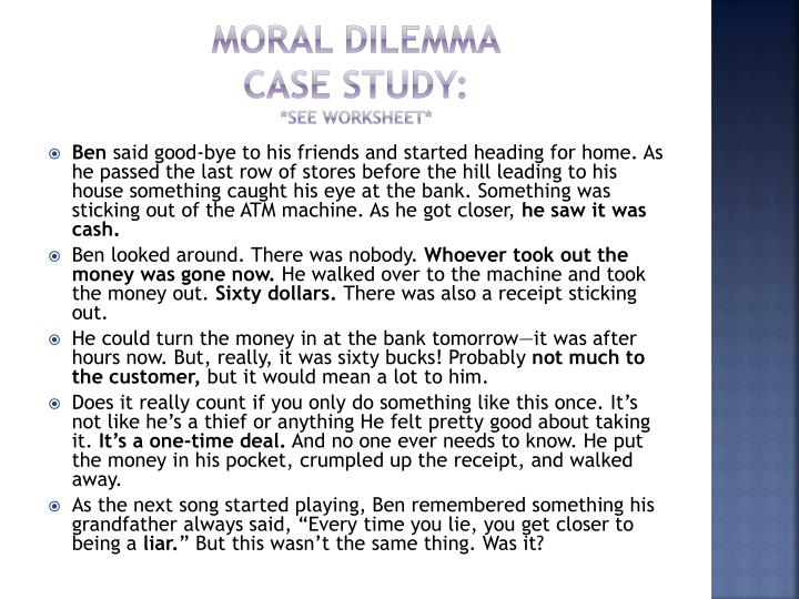 Ethical Dilemma Worksheet