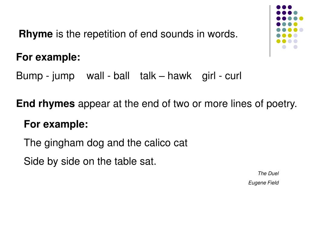 End Rhyme Poetry Definition
