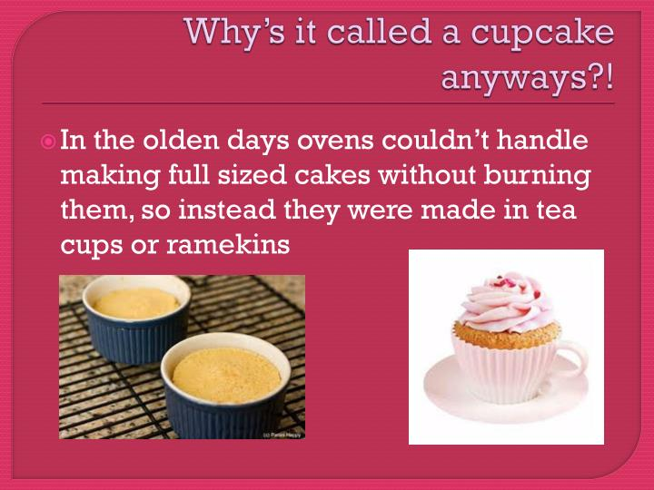 History Of The Cupcake PowerPoint Presentation