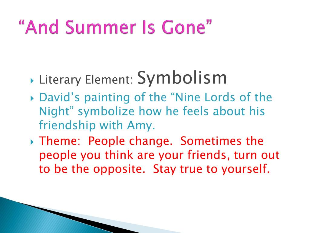 Summer Symbolism In Literature