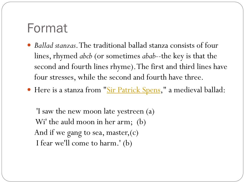 Free Verse Poetry Format