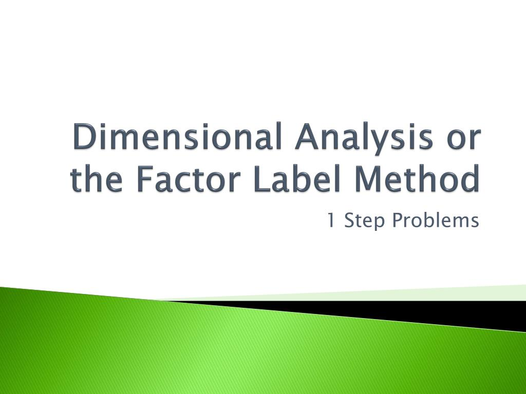 30 What Is Factor Label Method