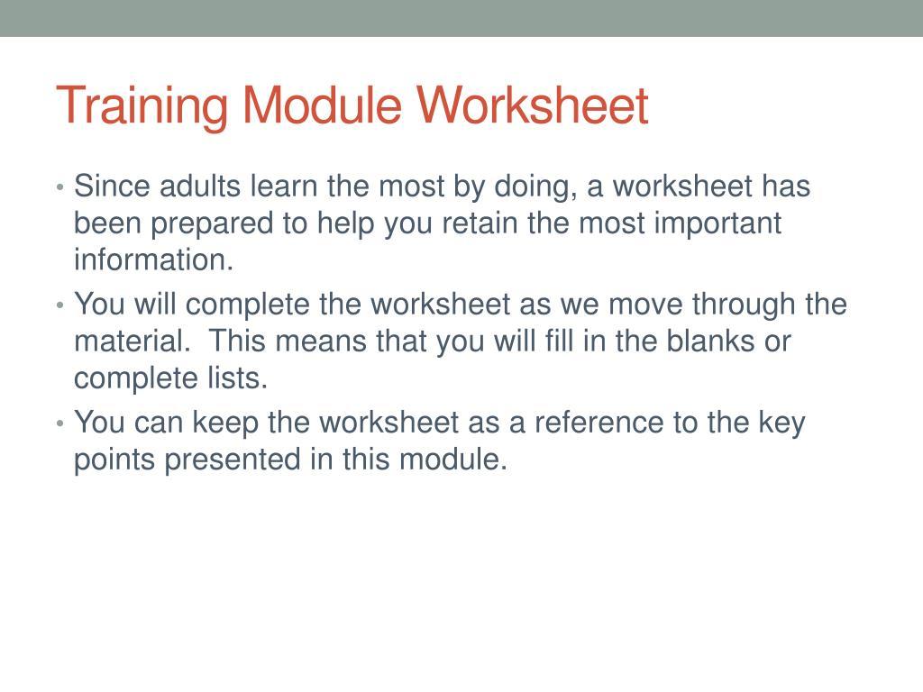 Hazard Recognition Worksheet