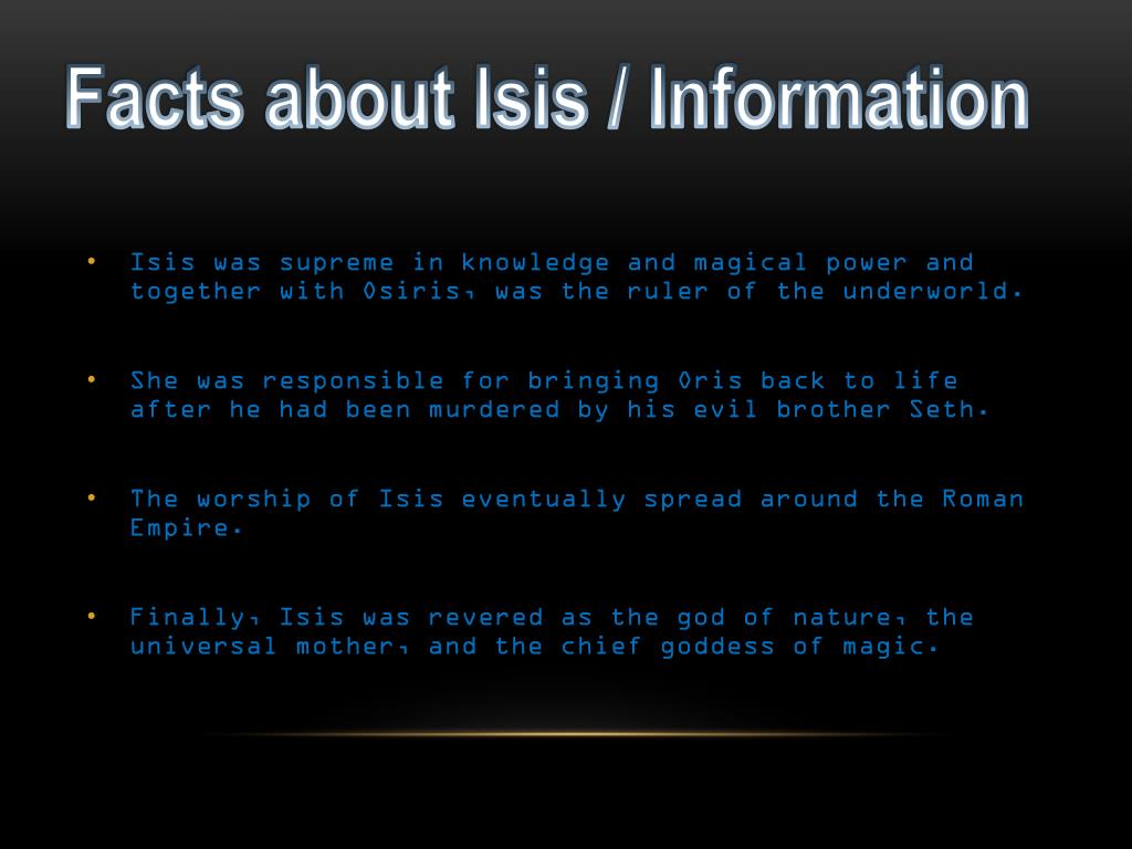 Egyptian God Isis Facts
