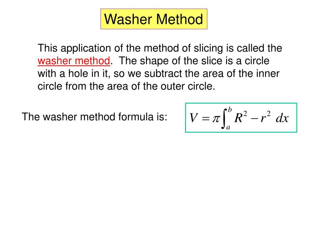 Washer Method Calculator