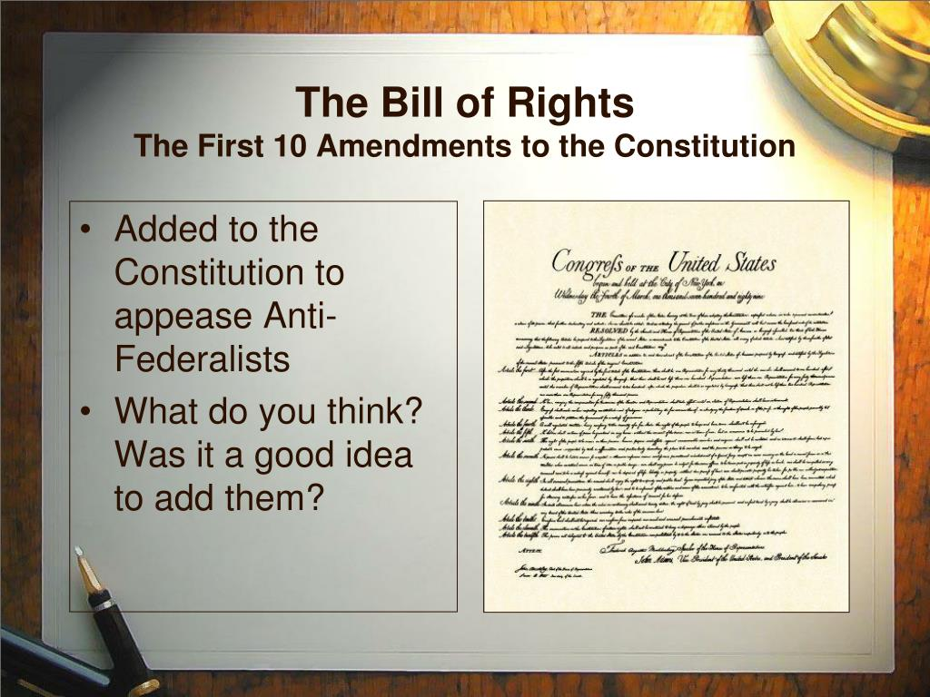 What Were The First 10 Amendments List Of Amendments To