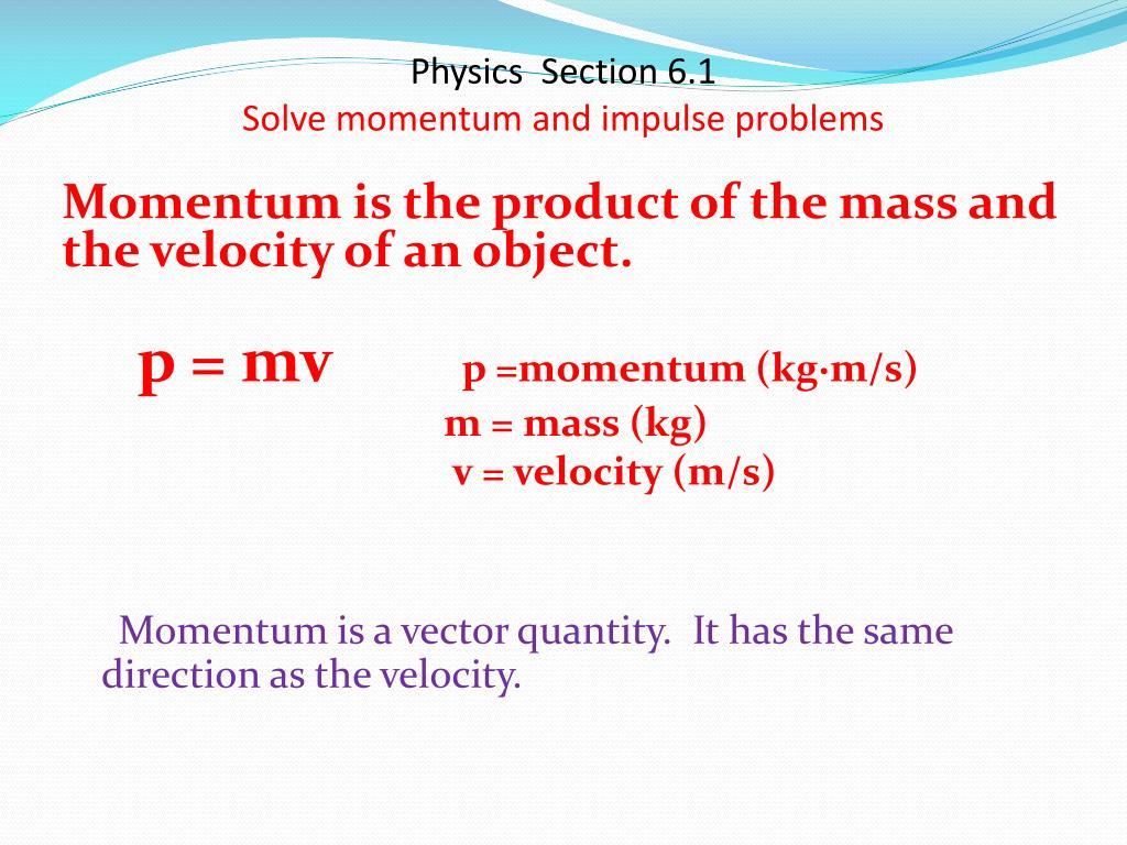 Solving Momentum Problems Impulse Momentum Exam1 And