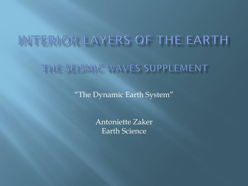 Layers Of The Earth Powerpoint 5th Grade