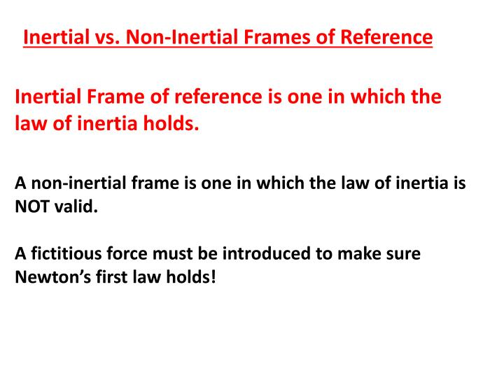 Inertial Frames Of Reference Ppt | Amtframe.org