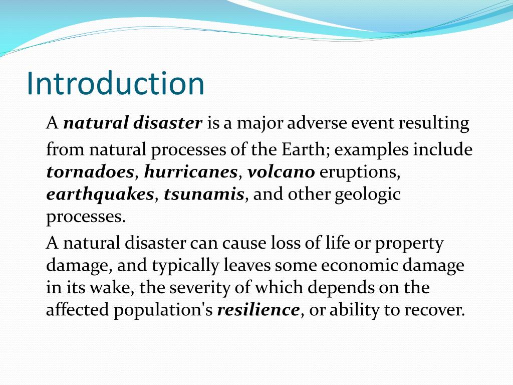 Good Introduction About Natural Disasters