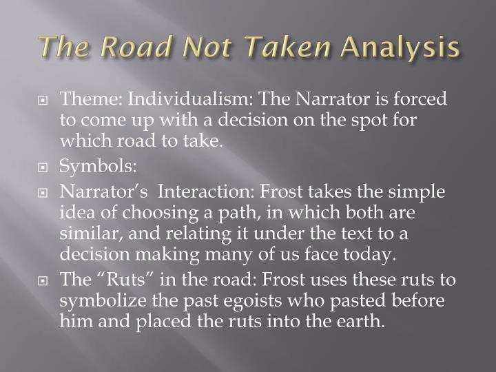 Theme Road Not Taken Robert Frost