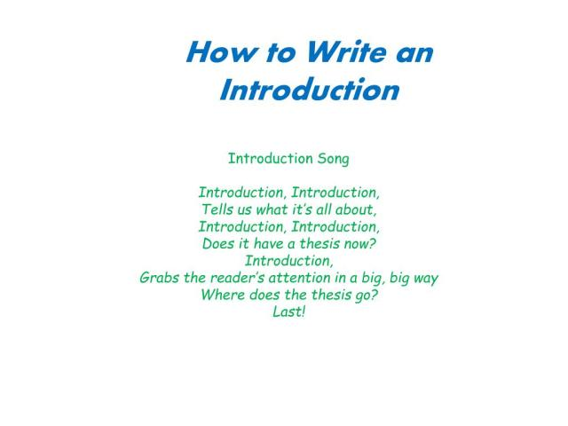 PPT - How to Write an Introduction PowerPoint Presentation, free