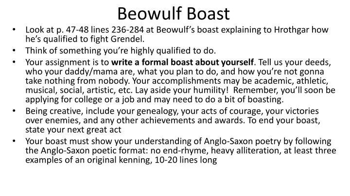 formal boast example