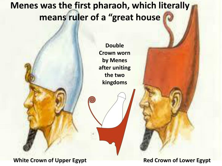 Double King Menes Crown His