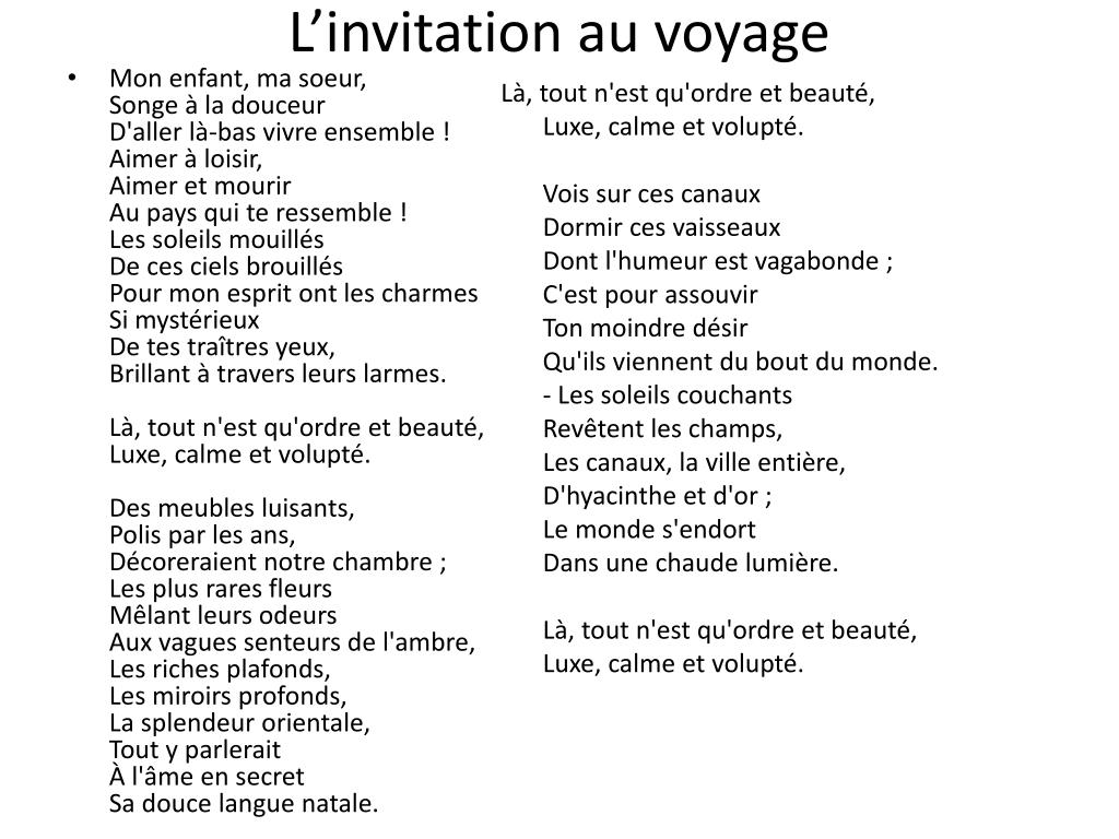 ppt l invitation au voyage powerpoint
