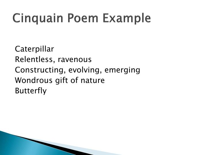 Examples Of Cinquain Poems Choice Image Example Cover Letter For