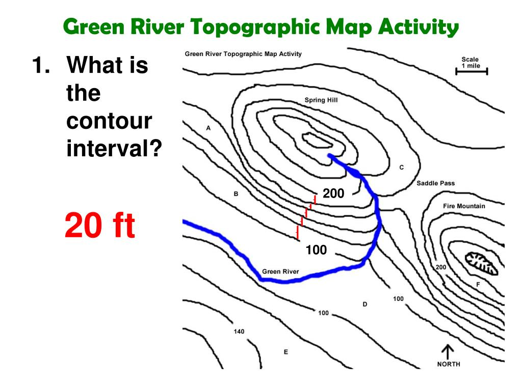 What Is A Contour Interval On A Topographic Map