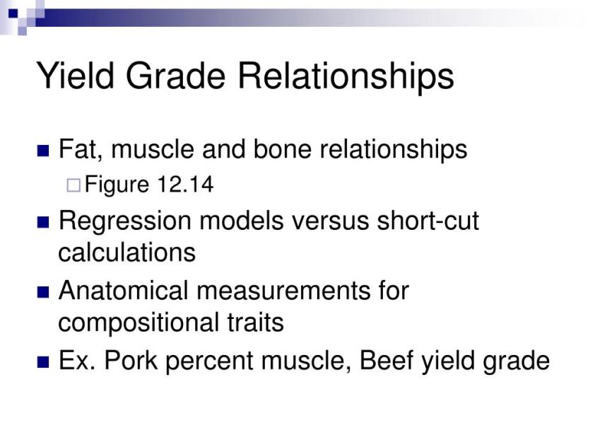 PPT - Growth, Composition and Meat Quality PowerPoint ...
