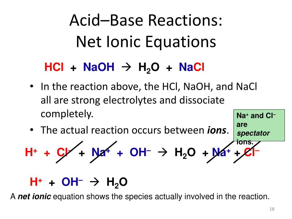 Net Ionic Equation For The Ionization Of Acetic Acid