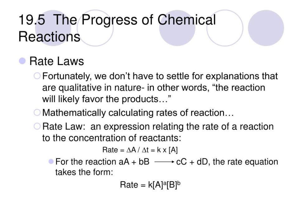 PPT - Chapter 19 – Reaction Rates and Equilibrium ...