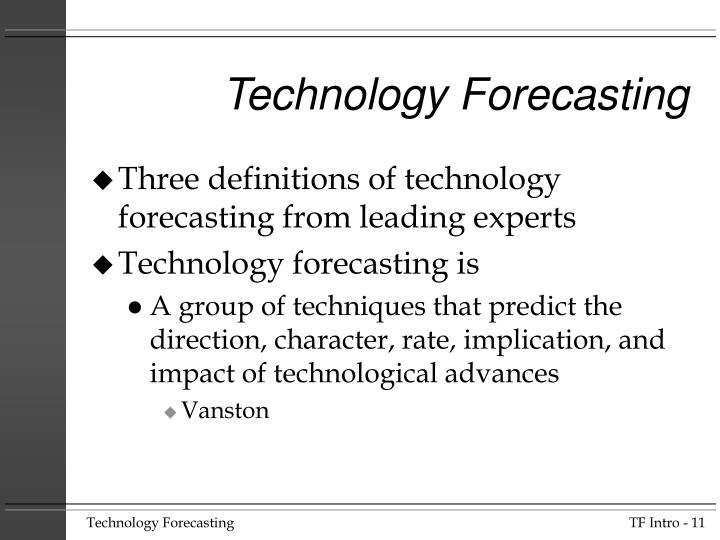 Technology Forecasting And Social Change