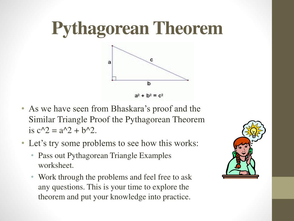 Pythagorean Theorem Proof Similar Triangles