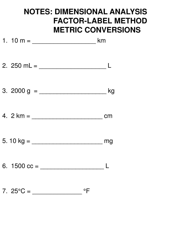 Factor Label Method Unit 4 Worksheet Vhemisrty Printable Worksheets And Activities For Teachers Parents Tutors And Homeschool Families