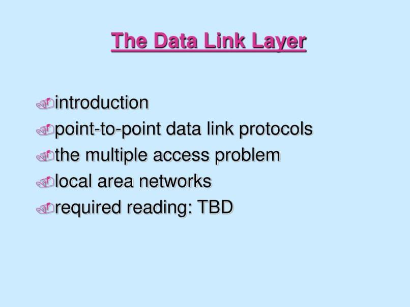 Data Link Layer Framing Ppt | Frameswalls org