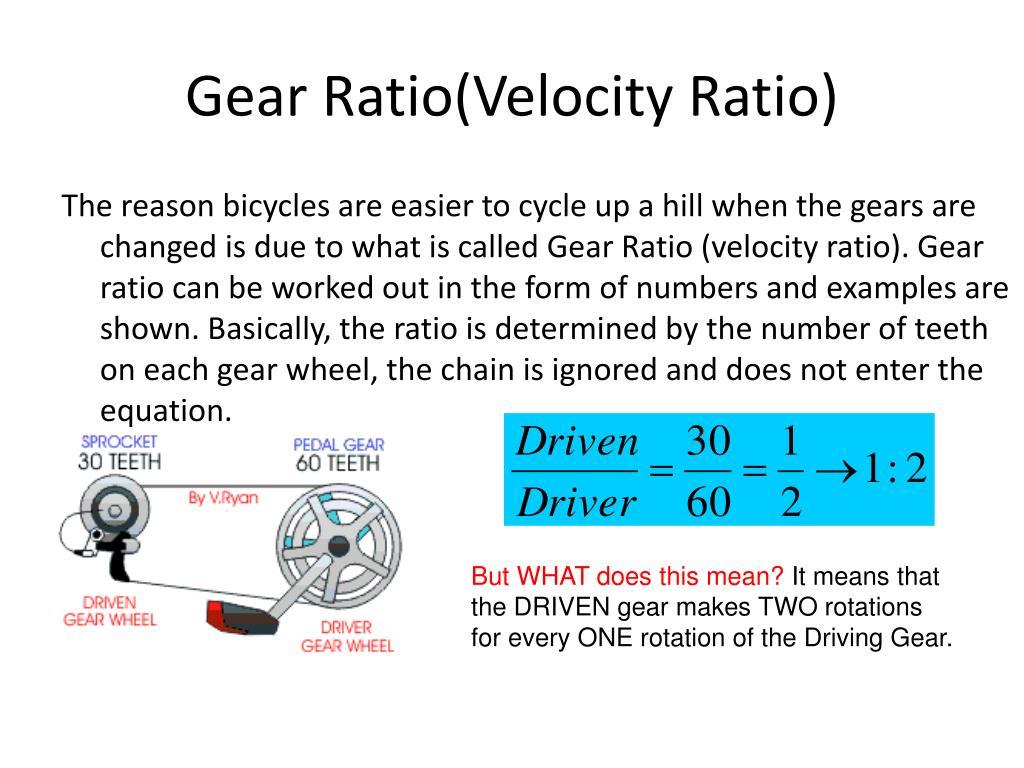 Gear Ratio Equation Teeth