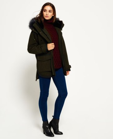 Superdry Fjord Ovoid Parka Coat Green