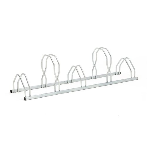 wall or floor mounted bike rack 5 bikes 1600x330 mm