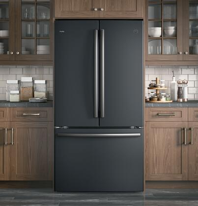 GE Profile PWE23KMKES 36 Inch Slate Series Counter Depth French Door Refrigerator With 231 Cu