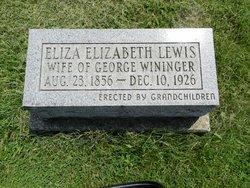 Eliza Elizabeth <i>Lewis</i> Wininger