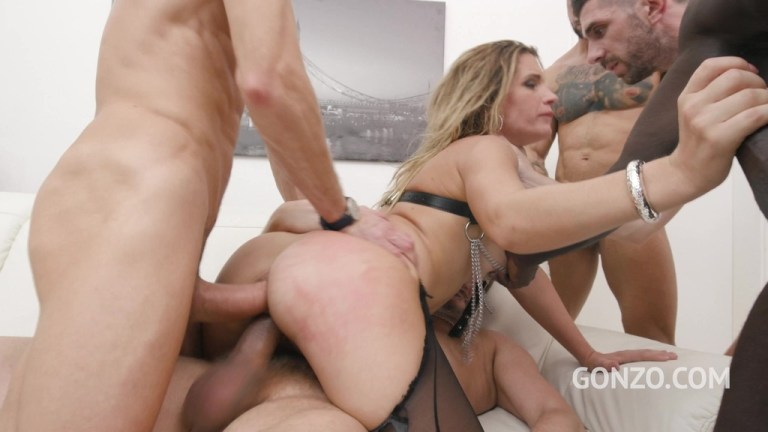 Leidy de Leon rough 5on1 fuck session with balls deep double anal fucking SZ2558