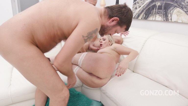 Hardcore slut Brittany Bardot assfucked 3on1 with DP, DAP and double pussy SZ2550(DRY)