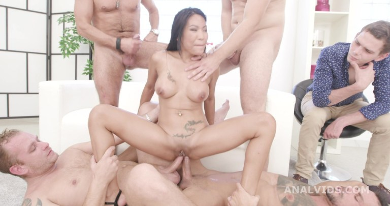 Cuckold Dream with Polly Pons, 4on1 Balls Deep Anal, DAP, Gapes and Facial GIO1604
