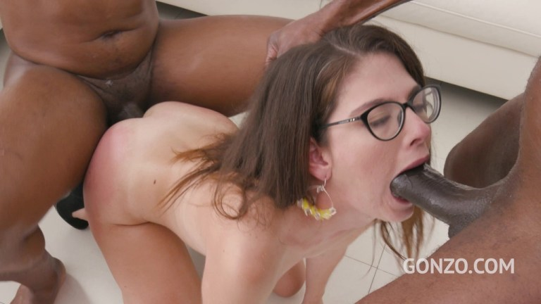 Teen piss drinker Sara Bell assfucked by 2 BBC with double penetration SZ2515