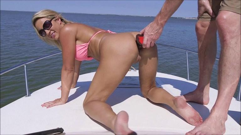Sam Zee Riding The Impaler On Open Water OTS970