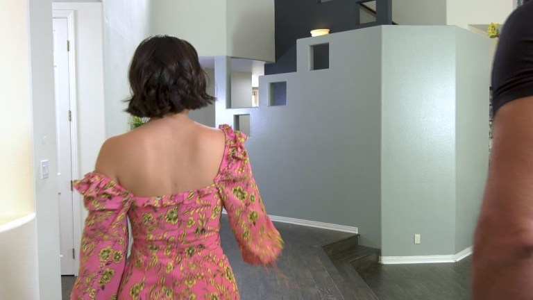 Busty Brunette LaSirena69 Gives the Handyman a Handjob & More in the Kitchen GP1840