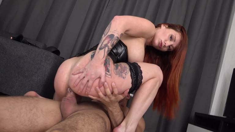 Redhead Lelya Mult with big tits hard fucked in the ass - Balls Deep Anal - Squirting VK075