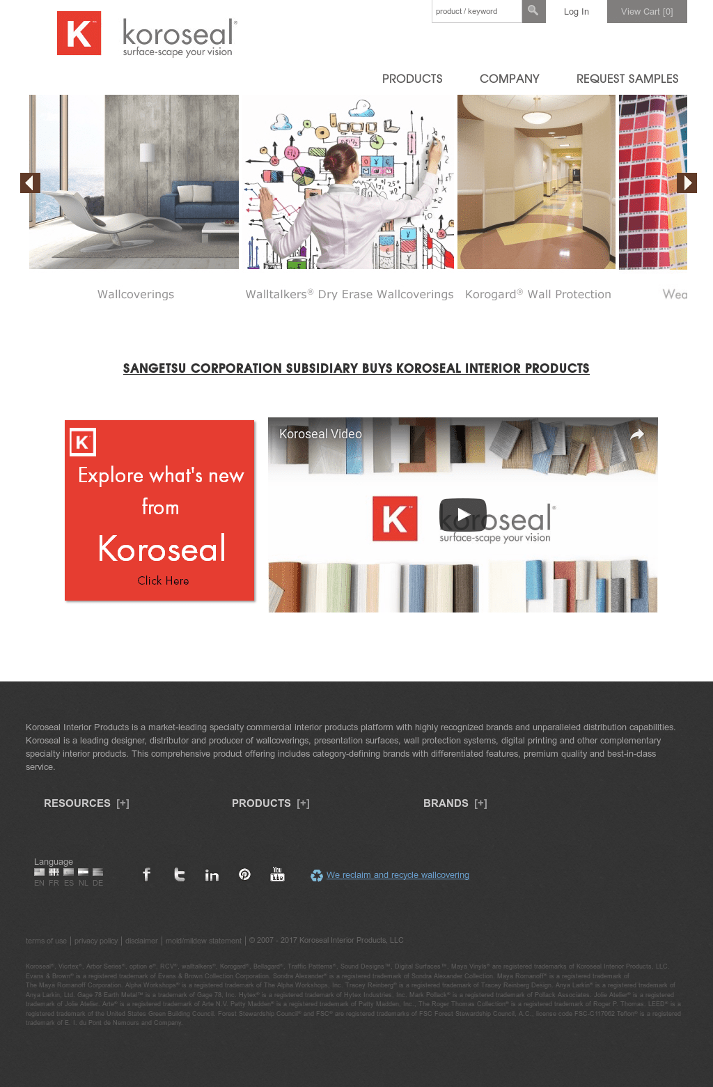 Koroseal Interior Products