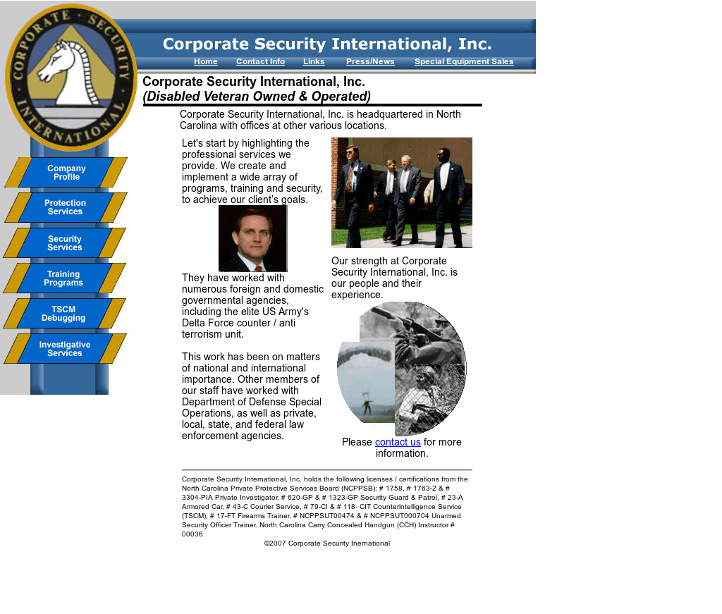 Corporate Security International Competitors Revenue And