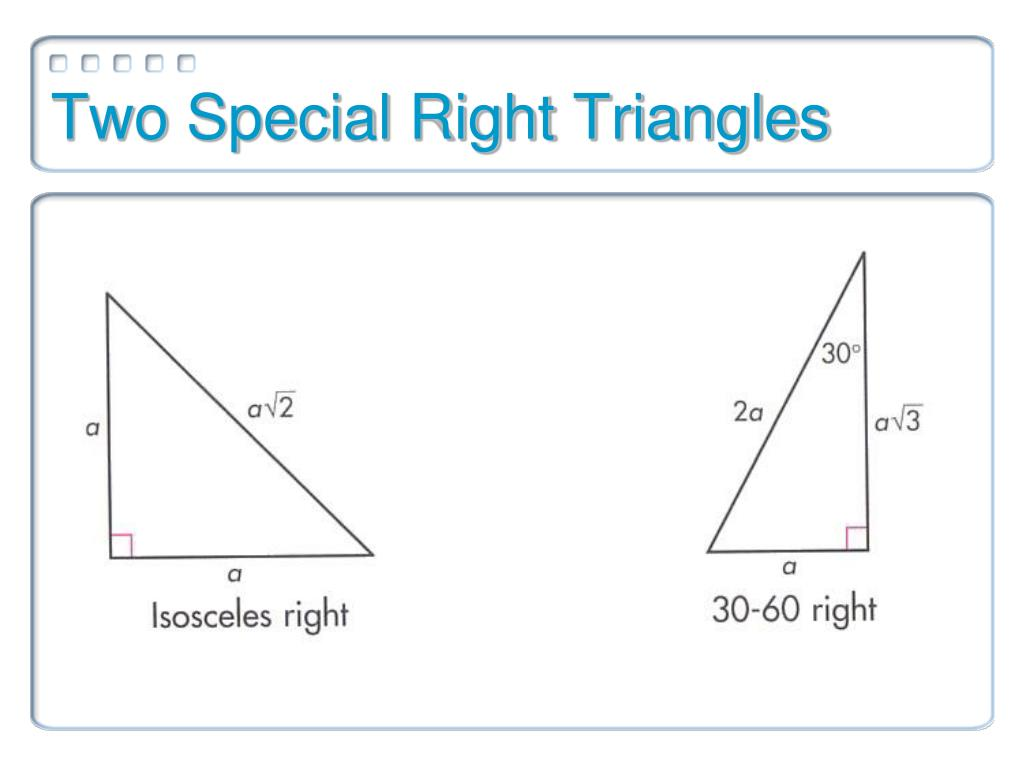 The Special Right Triangles