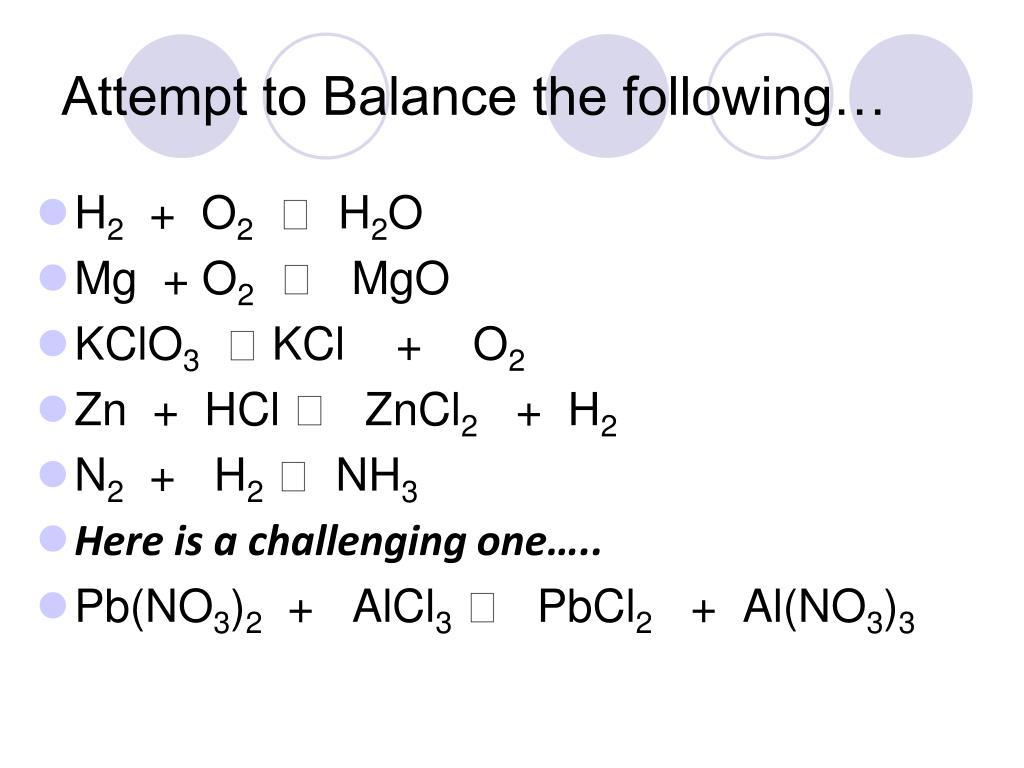 Balancing Equations Worksheet Al No3 3