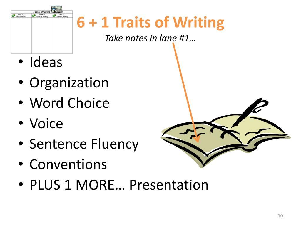6 Plus 1 Writing Traits