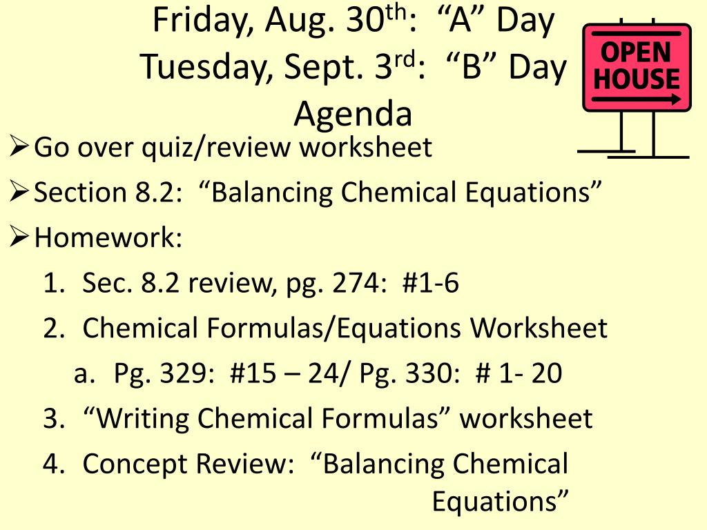 Balancing Chemical Equations Worksheet Remember Practice